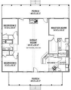 40x40 Barndominium Floor Plans on one story 40x50 floor plan