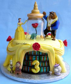 Birthday Cakes Images, Belle Cake Jillys Beauty And The Beast Top Disney Princess Cakecentral With Yellow Luxurious Design Ideas: Captivating Gold