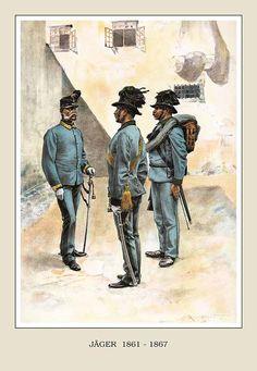 Uniformi truppa e ufficiali 1861 - 1867