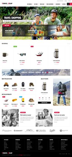 TravelGear - #responsive #Magento fashion themes for outdoors clothing and gear stores
