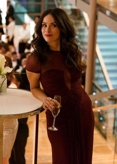 Abigail Spencer in a maroon sheer dress on the set of Suits -  - --    www.amazon.com/shops/cosmoz      http://astore.amazon.com/amazzoningsitte-20 webstore  http://gandalf-the-grayz-bookstore.hostedbywebstore.com/
