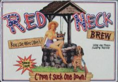Suck One Down Red Neck Brew Beer Pub Bar Sexy Tin Sign #el02