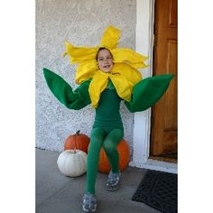 Sunflower Halloween Costume. I like the leaf arms on this one.