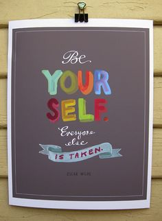 Perfect grad gift: Be Yourself print from Emily McDowell. (Everything she makes is so wonderful.)