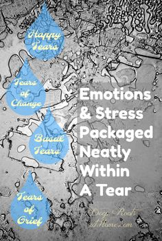 Emotions & Stress Are Released Within Your Tears So Have a Good Cry! Stress Symptoms, Physical Stress, Cell Wall, Release Stress, Rite Of Passage, Daughters Of The King, How To Relieve Stress, Grief, Fun Workouts