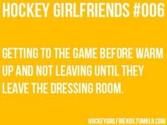 Not a girlfriend.but we do wait to see the guys after the games. Hockey Memes, Hockey Quotes, Funny Hockey, Quotes Girlfriend, Hockey Girlfriend, Boston Bruins Funny, Best Friend Couples, Hockey Pictures, Ice Hockey