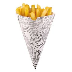 Old Fashioned Style Fish & Chips Fries Newspaper Cones - BBQs Party Chip Shops Fish And Chips, Food Truck, Fish And Chip Shop, Newspaper Printing, Paper Cones, Bbq Party, Hamburgers, Snacks, New Print