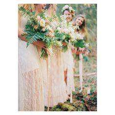 Bohemian bridesmaid inspiration with @seventhstem // featured on @greenweddingshoes