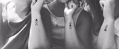 Sibling tattoos #triangle #tattoo #sisters