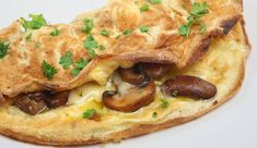 Omelette de Champiñones - Platillo Gourmet Frances. (Visita el link para obtener la receta)