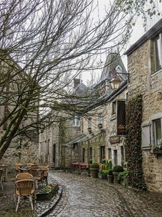 A street in Durbuy, Belgium - Wallonia