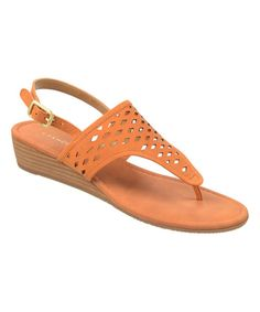 Look at this Franco Sarto Paprika Charlize Leather Sandal on #zulily today!