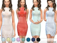 The Sims Resource: Lace Overlay Mini Dress by ekinege • Sims 4 Downloads