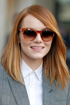 Color!! Emma Stone Hair Style File - Hairstyles And Colour (Vogue.com UK)