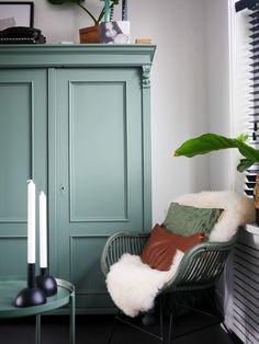 biedermeier linnenkast brocante vintage landelijk woonkamer huiskamer DIY