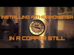 The absolute best way to add a thermometer to a copper moonshine still is to install a copper bung. Screw a thermometer with NPT threads into that. Copper Moonshine Still, How To Make Moonshine, Home Distilling, Copper Still, Thing 1, Wine And Beer, Home Brewing, Stuff To Do, Liqueurs