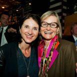 Schauspielerin Petra Niehoff und Hedi Grager (www.hedigrager.com) bei der Eröffnung des el Gaucho in München