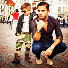 Love the little boy his outfit.. #shoes #pant