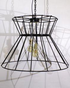 A chandelier recreated from an old metal frame. Restoration Services, Furniture Restoration, Wall Lights, Ceiling Lights, Interior Design Studio, Repurposed Furniture, Interior Accessories, Chandelier, Lighting