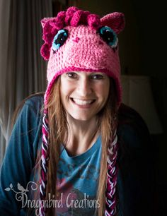 """Original pinner said, """"Free Crochet Pattern for this pony hat: This link takes you to my variation for the mane and from there, if you look to the right you can click the link that takes you to the whole pattern. :) Two hooves up!"""