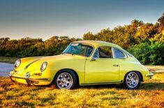 Yellow 1965 Porsche 356