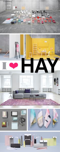 I love HAY furniture (http://www.cimmermann.co.uk/department/hay/)