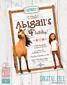 This item is unavailable Horse Birthday Parties, Barbie Birthday Party, Farm Birthday, Birthday Ideas, Happy Birthday, Kids Party Themes, Party Ideas, Horse Party, Pony Party