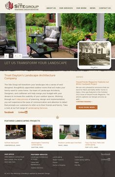 Site Group Landscaping #website #design