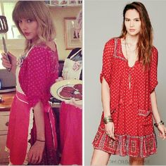 Free People penny lane dress Hard to find RED penny dress. As seen on taylor swift.  Perfect condition. Never worn by me or who I bought from. Free People Dresses