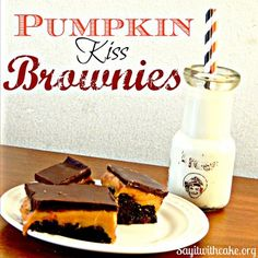Pumpkin Kiss Brownies - Say it with Cake