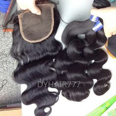 1B# Cambodian loose wave and closure  http://www.dyhair777.com/Cambodian-Virgin-Hair.html