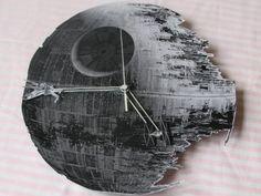 Star Wars Todesstern Uhr zum Selber machen #DIY