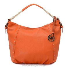 01561b191d20 Michael Kors Handbags MK 61 Series Shoulder Bags Rivet Orange WBMKHB150072 Michael  Kors Tote, Michael