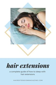 Taking care of your hair extensions is super important even when you're sleeping. What do you do to get your hair ready for bed? Hair Extension Magazine has put together some tips on how to sleep with hair extensions. Clip In Extensions, Hair Extensions For Short Hair, Braid In Hair Extensions, Hair Extension Care, Bed Hair, Hair Restoration, Hair Repair, Hair Tricks, Magazine