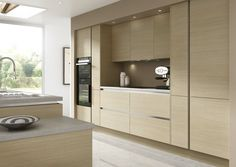 True Novi Modern Handleless Kitchen Design by Sheraton Interiors! Browse Sheraton Interiors for kitchen ideas, kitchen design, traditional kitchen design, classic kitchen design, fitted kitchen, german kitchen, fully fitted kitchens & more! Sheraton Interiors design, manufacture and install exquisite bespoke kitchens made from the finest materials. Call Sheraton Interiors free 24 hrs 0800 077 6407 or visit http://sheratoninteriors.co.uk/ to book a free home design visit. #KitchenDesign…