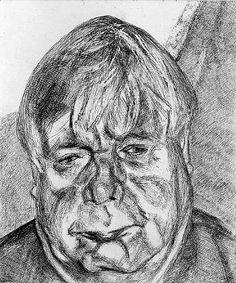 artnet Galleries: Donegal Man by Lucian Freud from Marlborough Fine Art Ltd.