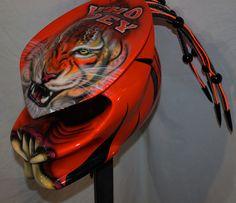KustomzAirbrushing #predator #predatorhelmet #helmets pre-fabricated,no wait shipping,ship immediately helmets.3 lasers,3 l.e.d.s airbrushed inner d.o.t. shell. #helmet #www.kustomzairbrushing.com ,#predator #motorcycle #helmets 1-877-492-1242  #kustomzairbrushing #predatorbengalshelmet #nfl #bengals