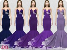 30 colors  Found in TSR Category 'Sims 4 Female Formal'