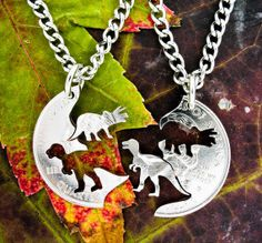 Dinosaur Jewelry Kids Necklaces Friendship set Trex by NameCoins, $34.99 I love this!!
