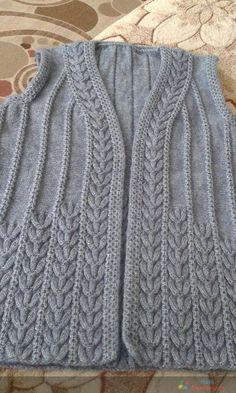 Hand Knitting Women's Sweaters Easy Crochet Patterns, Knitting Patterns Free, Knitting Stitches, Baby Knitting, Baby Sweaters, Sweaters For Women, Tricot D'art, Knit Vest Pattern, Knitwear