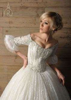 Ball Gown Wedding Dresses Long Sleeve Floor Length Lace