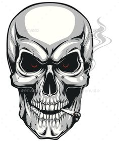 Skull Smokes by Andrey1005 Vector graphics Install any size without loss of quality. ZIP archive contains: one file format 10 EPS