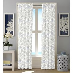 Floral Rod Pocket Curtain Panel by Nautica