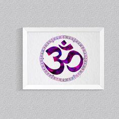 Om Print, Om Art, Yoga Art Print, Watercolor Om, Meditation Art, Zen Wall Art, Buddhist Art, Buddha Art, Spiritual Art, Om Symbol, Om Poster by ArtistiCorner on Etsy https://www.etsy.com/listing/399830985/om-print-om-art-yoga-art-print