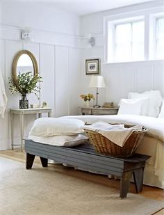 Love this even more...especially the long bench at the end of the bed.