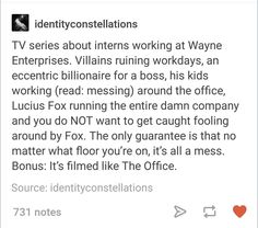 And plot twist they do have the batfam in it but as their Wayne fam counterparts and sometimes a small cameo if they at Wayne ent. in bat form Im Batman, Batman Robin, Batman Universe, Dc Universe, Comic Book Heroes, Comic Books, Wayne Enterprises, Superbat, Dc Memes