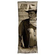 John Wayne Stoic Cowboy Body Pillow