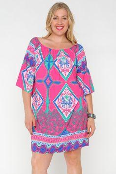 Plus Size Perfection, $44 The Cotton Candy Dress www.shoporangeboutique.com