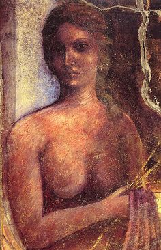 #Pompeii -- Roman Fresco -- Depicting a Maenad -- Excavated from the 'House of Criptoportico' -- Pompeii