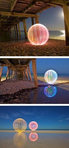 Ball of Light by Denis Smith - light painting ~ This is stunning, I have to try it!